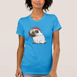 Pug van de cartoon in het Kostuum Pugicorn van de T Shirt