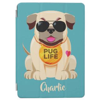 Pug van de de douanenaam & kleur van het Leven iPad Air Cover