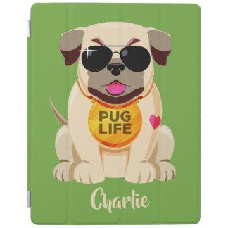 Pug van de de douanenaam & kleur van het Leven iPad Cover