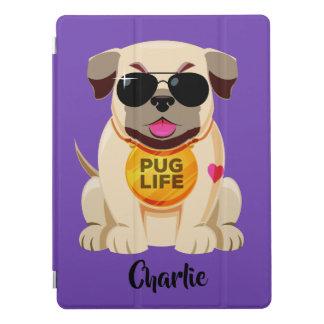 Pug van de de douanenaam & kleur van het Leven iPad Pro Cover