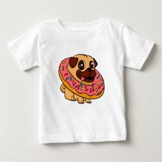 Pug van de doughnut baby t shirts