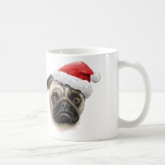 Pug van de kerstman Mok