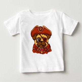 Pug van de piraat baby t shirts