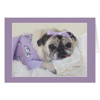 Pug van de Prinses van de slaap Kaart door Pugs en