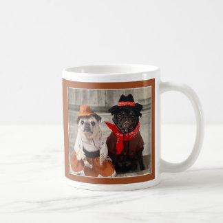 Pug van de veedrijfster en Pug van de Cowboy Mok