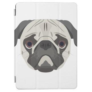 Pug van het de hondengezicht van de illustratie iPad air cover