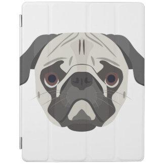 Pug van het de hondengezicht van de illustratie iPad cover