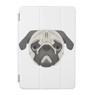 Pug van het de hondengezicht van de illustratie iPad mini cover
