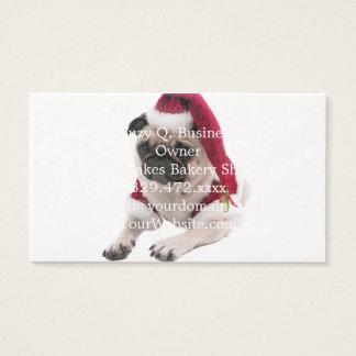 Pug van Kerstmis - de hond van de Kerstman - hond Visitekaartjes
