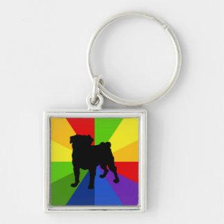Pug van Mod. van de Regenboog van de Kleurstof van Sleutelhangers