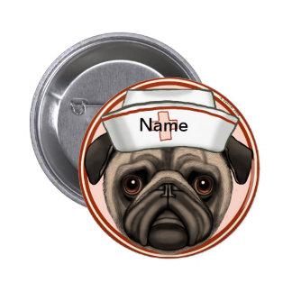 Pug Verpleegster Speldbutton