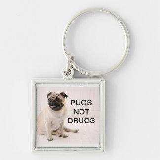 Pugs niet Drugs Keychain Sleutelhanger