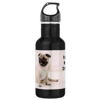 Pugs niet Drugs Waterfles