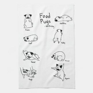 Pugs van het voedsel theedoek