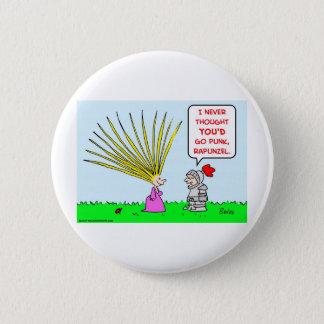 punk rapunzelhaar ronde button 5,7 cm