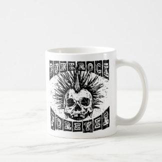 punk rock voor altijd koffiemok