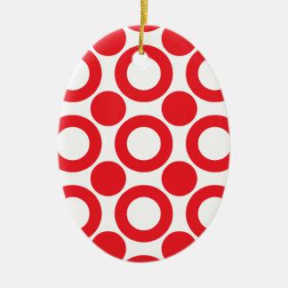 punt patroon 3 keramisch ovaal ornament
