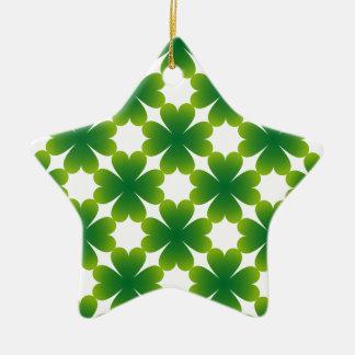 Punt van de Gift van de Douane van de Klaver van Keramisch Ster Ornament