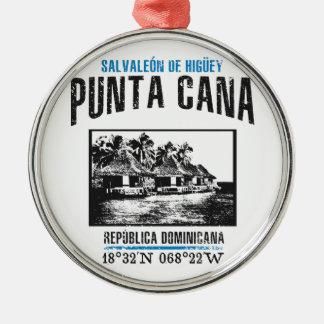 Punta Cana Zilverkleurig Rond Ornament