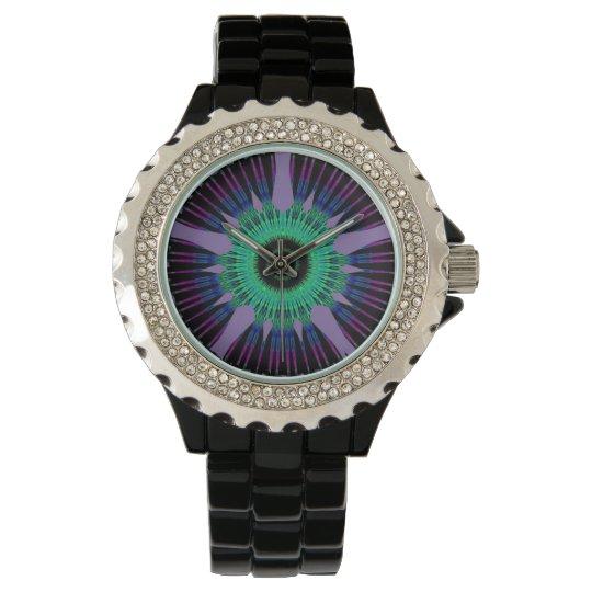 Pupil Eye Rhinestone Horloge van N.A.