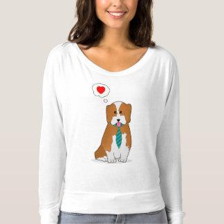 Puppy dat liefde toont longsleeve