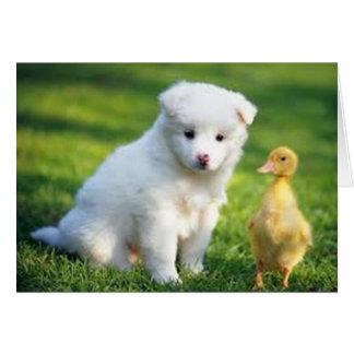 Puppy en Eendje Kaart