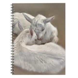 puppy geit in het boerderij ringband notitieboek