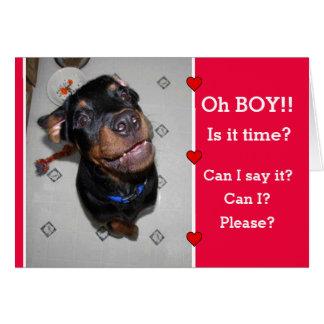 Puppy I Wuff u de Kaart van de Valentijnsdag Kaart