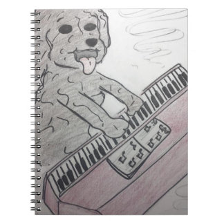 puppy piano notitieboek