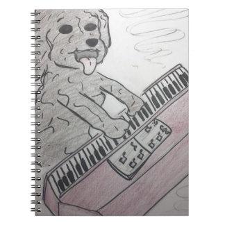 puppy piano notitieboeken