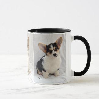 Puppy van de tri-Kleur Corgi van Pembroke het Mok