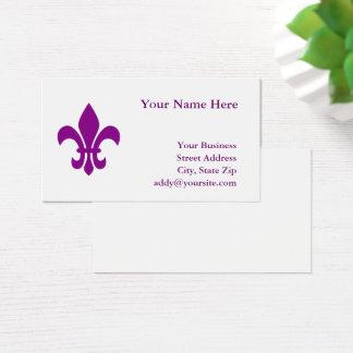 Purple Fleur DE Lis Visitekaartjes