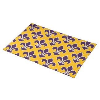 Purple Fleurs DE Lis op Goud Placemat