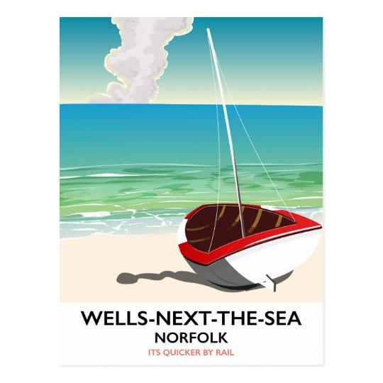Put-volgende-de-zee de reisposter van het Strand Briefkaart
