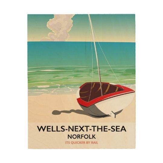 Put-volgende-de-zee de reisposter van het Strand Houten Canvas Prints