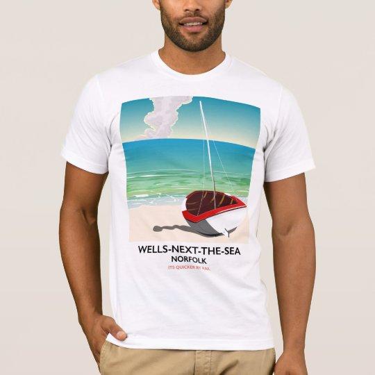 Put-volgende-de-zee de reisposter van het Strand T Shirt