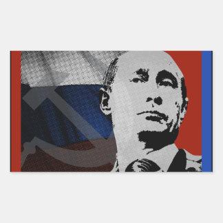 Putin met Russische Vlag Rechthoekige Sticker