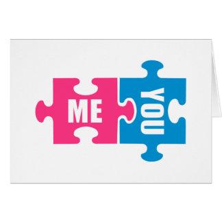 Puzzel me en u wenskaarten