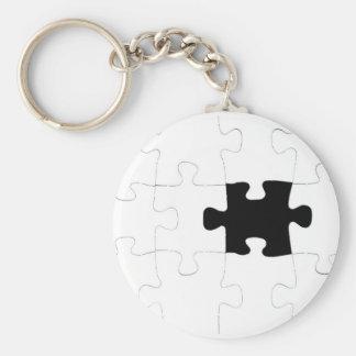 Puzzel met het Missen van Stuk Basic Ronde Button Sleutelhanger
