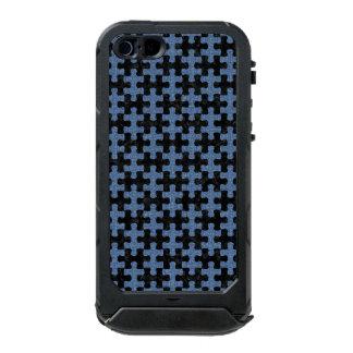PUZZLE1 ZWART MARMEREN & BLAUW DENIM INCIPIO ATLAS ID™ iPhone 5 HOESJE
