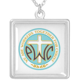 PWOC logoketting Zilver Vergulden Ketting