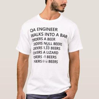 QA de T-shirt van de Humor van de Ingenieur