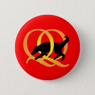 QQ wevende Hond Ronde Button 5,7 Cm