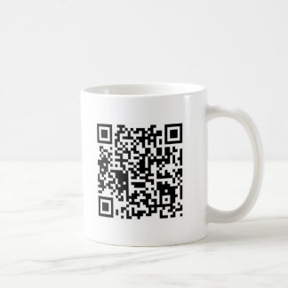 """qr code """"Punt die telefoon ergens anders tevreden Koffiemok"""
