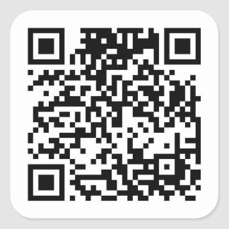 QR code Vierkante Sticker