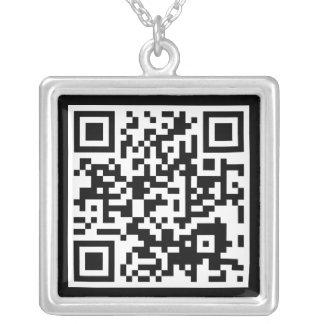 QR code Zilver Vergulden Ketting