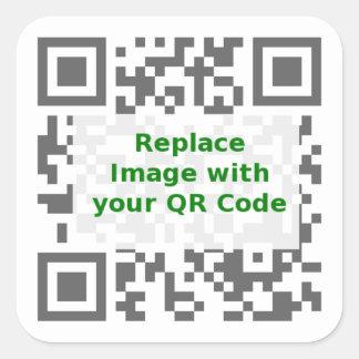 QR de Code van het aftasten - bevorder overal Uw Vierkant Stickers