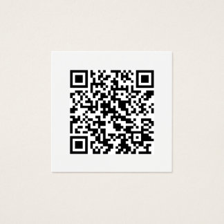 QR de Minimale Sociale Moderne Media van de code Vierkant Visitekaartjes