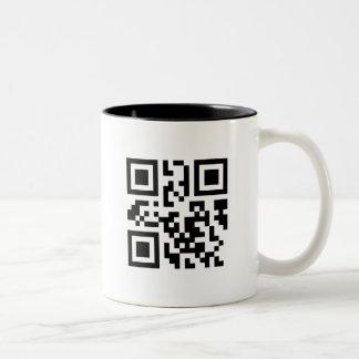 QRMug Tweekleurige Koffiemok