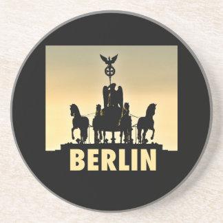 Quadriga 002.1 van BERLIJN de Poort van Zandsteen Onderzetter